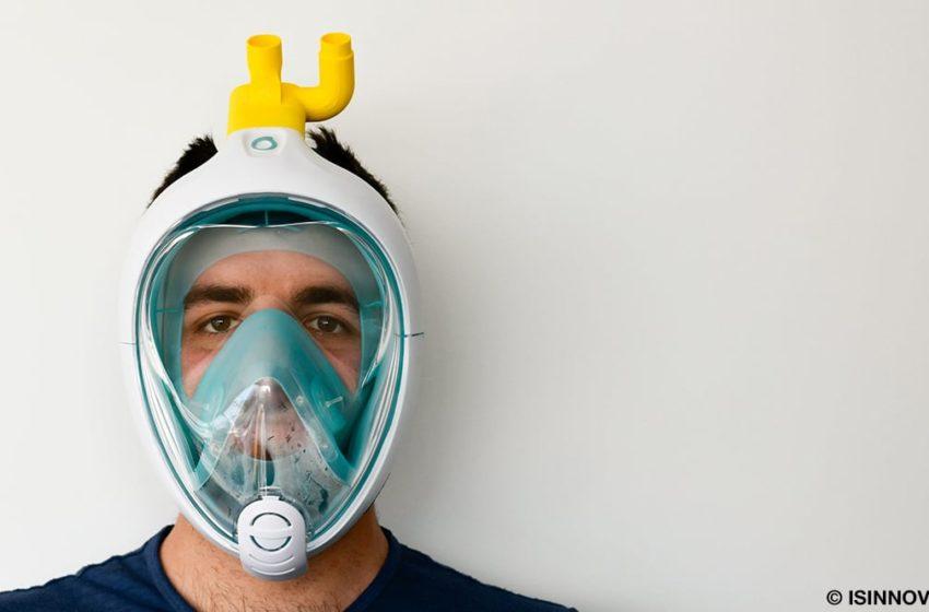 Coronavirus : des masques de plongée Decathlon pour équiper les respirateurs